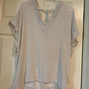 Francesca's White Lace Swim Cover Up